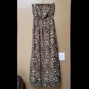 Forever 21 animal print cheetah maxi dress